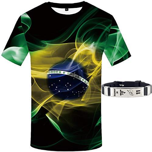 Copa Amerika Brasilien T-Shirt Welt Tasse Katar Armband Neymar Kurze Ärmel Dreidimensional Drucken Fußball Strecken/A/S