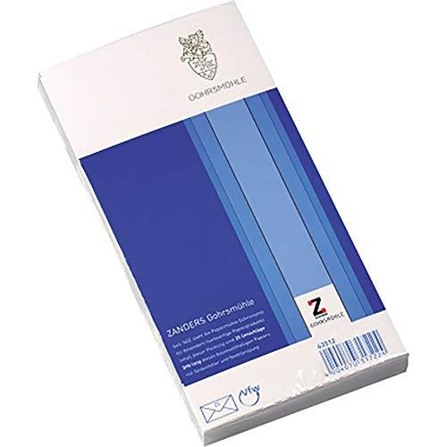 Briefumschläge Gohrsmühle Din-Lang (110 mm x 220 mm), 25 Stück, ohne Fenster, matt, weiß – für Besondere Ansprüche
