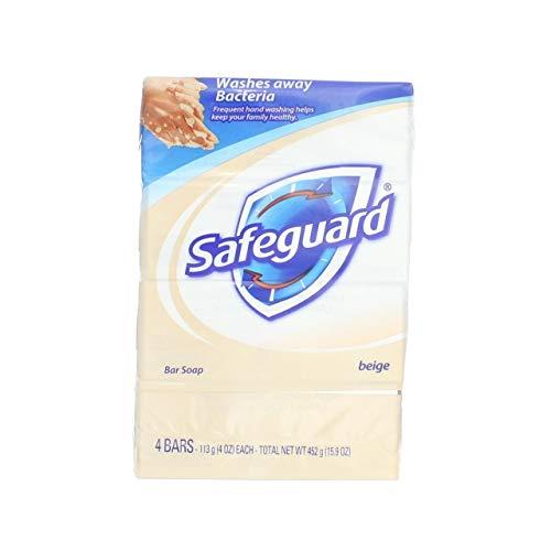 Safeguard Beige Bar Soap 4 oz, 4 bars (Pack of 6)