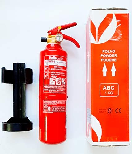 Ferretelix Extintor 1 kg ABC con Soporte para Coche, Caravana, casa, Cocina