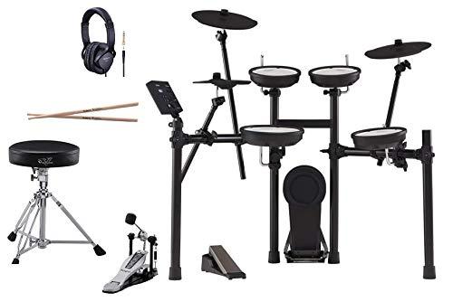 【Bluetooth対応】Roland ローランド 電子ドラム V-Drums TD-07KV (オールローランド純正品セット, ペダル・スローン・ヘッドホン・スティックセット)