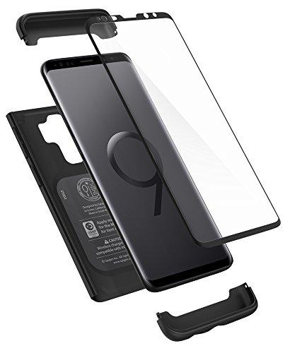 Spigen Thin Fit 360 Hülle Kompatibel mit Samsung Galaxy S9 Plus -Schwarz