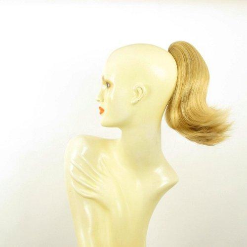 Postiche queue de cheval femme extension courte 28 cm blond clair doré ref 9 en lg26