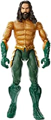 Aquaman movie action figure 11.5-inch scale with 11 points of articulation True-to-movie, state of the art facial design and costume Also choose Mera, Black Manta and Orm figures for epic battles and display Each action figure sold separately, subjec...