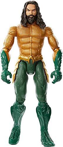 Mattel- Aquaman Personaggio Articolato dal Film, con 11 Punti di Articolazione, Giocattolo per Bambini 3 + Anni, 30 cm, FXF91