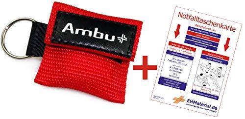 Set Ambu LifeKey (Rot) und Notfalltaschenkarte