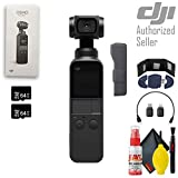 DJI Osmo Pocket 3 Axis Gimbal - Memory Card Wallet + USB Reader - 64GB microSD Card x2 - Cleaning Kit - Microfiber Cloth + More
