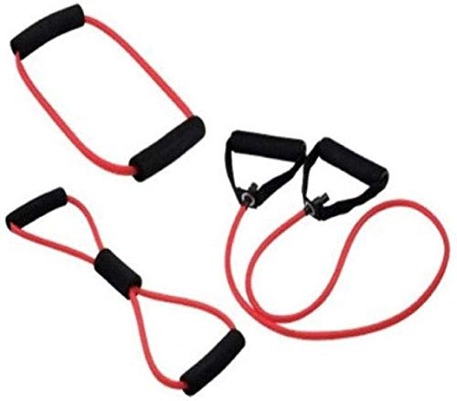 Las bandas de resistencia, la resistencia de la aptitud Deportes banda 8 palabra letra O una palabra de tres piezas traje de sistema del juego del rally de la cuerda de látex tural tirón tubo de TPR