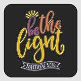 Pegatinas cuadradas con texto en inglés Be Salt and Light Square Sticker de 2 x 5 pulgadas para oficina, etiquetas de vinilo para negocios, bodas, fiestas de cumpleaños, regalos, set de 30