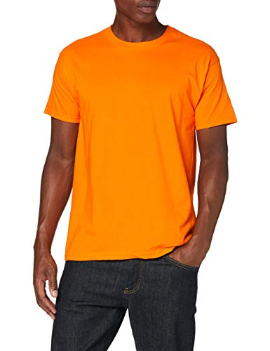 Fruit of the Loom Herren Valueweight Short Sleeve T-Shirt, Orange, XL