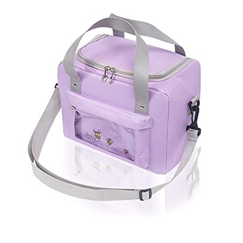 Bolsa Termica 9L Bolsa De Almuerzo Pequeña Bolsa Nevera Lunch Bag Bolsa Isotermica Pequeña Bolsa Nevera Playa Portatil Almuerzo Hermética Bolsa De Almuerzo Bolsa Térmica Para Almuerzo, Purple