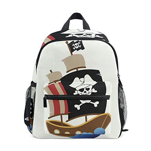 Mochila para niños Pirate Ship Kindergarten Prechool Bag for Toddler Girls Boys