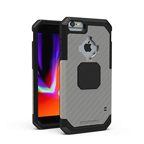 Rokform - iPhone 8/7/6/6s Plus Magnetic Case with Twist Lock, Military Grade Rugged iPhone Case Series (Gunmetal)