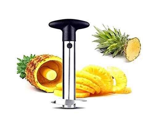 Hitopin Taglia Ananas, 1 Pezzo Ananas Affettatrice,Tagli per Pelapatate per Ananas, Strumento per La Cucina Facile da Usare (Argento)