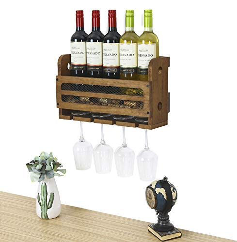 Black - Stylish Modern Wine Storage with Label Forward Design Satin Black VintageView Wall Series Perch 1 Bottle Wall Mounted Vertical Wine Bottle Rack