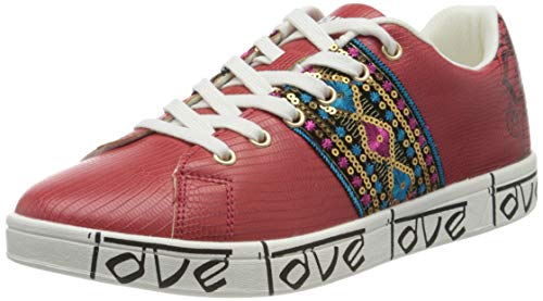 Desigual Damen Shoes Cosmic Exotic Indian Sneaker, Rot (Rojo Roja 3061), 38 EU
