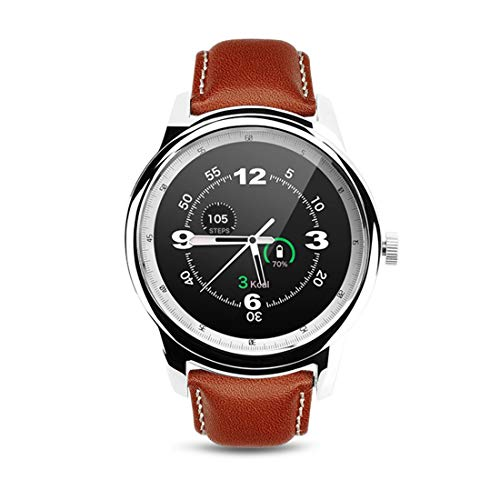 Smart Watches DM365 MTK2502A-ARM7 - Pantalla táctil capacitiva con Bluetooth 4.0 de 1,36 pulgadas, compatible con Facebook, Whatsapp, pantalla brillante y mano para cambiar