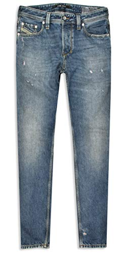 Diesel Herren Jeans Larkee- Beex Camel Blue Distressed Limited Edition