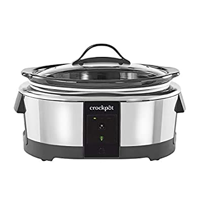 Crock-pot 2101704 6 Quart Slow Cooker Works with Alexa   Programmable Stainless Steel