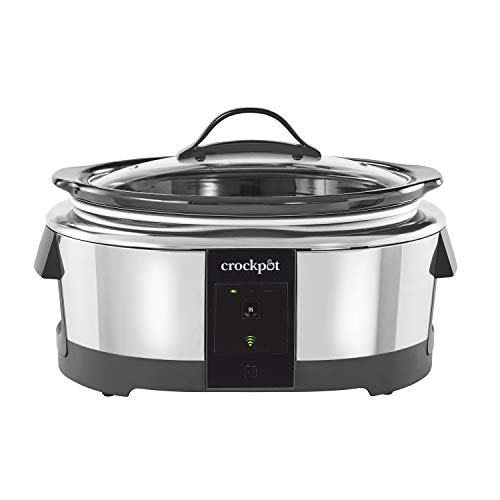 Crock-pot 2139005 6 Quart Slow Cooker Works with Alexa | Programmable Stainless Steel