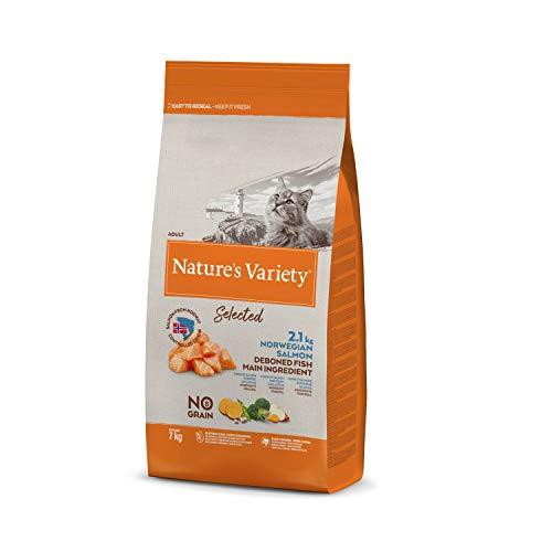 Nature's Variety Selected - Pienso para gatos adultos con salmón noruego sin espinas 7 Kg 🔥