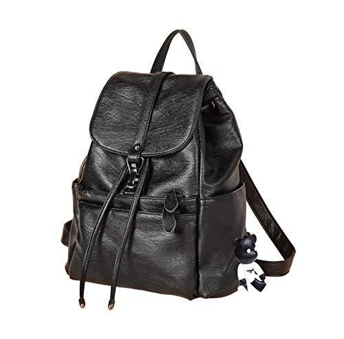 BUKESIYI Women's Backpack Handbags Rucksack Shoulder Bags PU Leather Mini Kawaii Anti-theft CCUK78264 Black