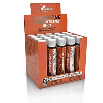 Olimp L-Carnitine 3000 Extreme Shot Ampoule L-Carnitine Supplement, 25 ml, Cherry Flavour