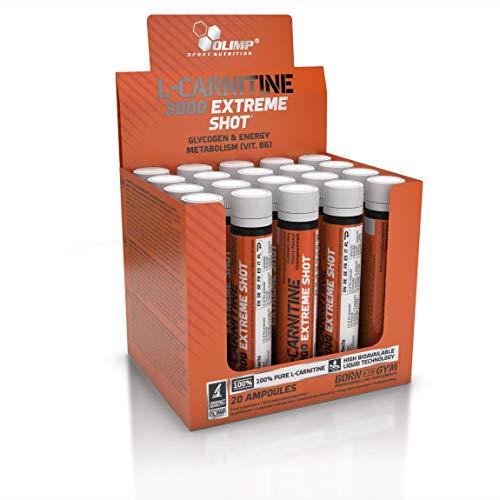 Olimp L-Carnitine Forte 3000 Extreme Shot Kirsche 20 x 25 ml, 1er Pack (1 x 500 ml Packung)