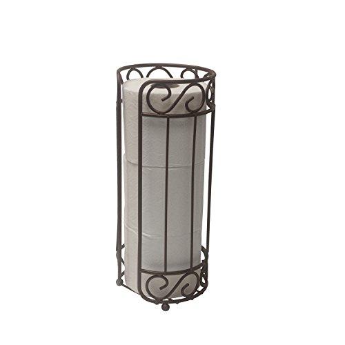 Top 10 best selling list for home basics bronze scroll toilet paper holder and dispenser