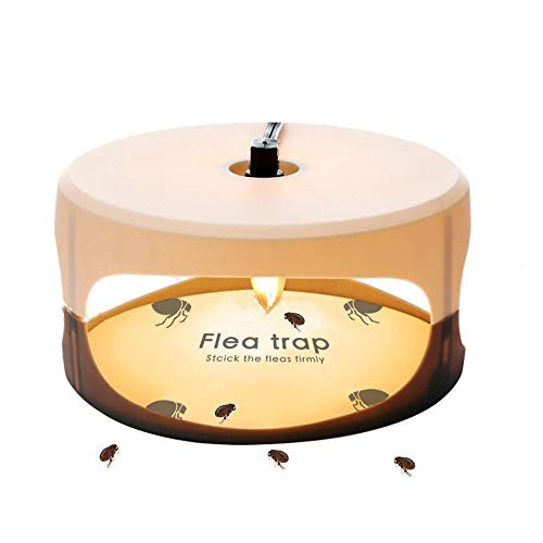 ZZC Flea Trap with 2 Glue Discs Simple Installation Non-Toxic No Insecticides Trap Killer Best Pest Control for Home