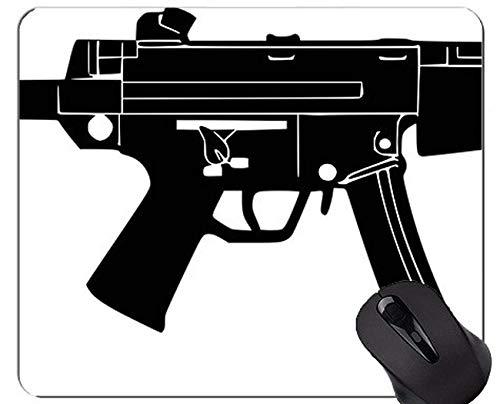 Custom Original Leopard Series Mouse Pad, Guns Ammunition Assault Rifle Mouse Pad with Stitched Edge
