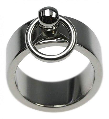 Unbekannt Ring der O in Edelstahl, Breite 8 mm, Größe:Größe 58 (18.5) mm
