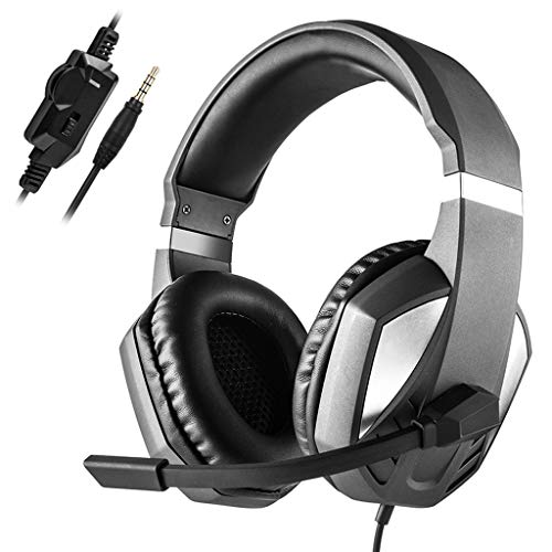 IKevan 3.5mm Plug Black Gaming Headphone Voice Control Wired HI-FI Sound Quality Headset with Microphone For PS4 Cell Phone