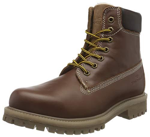 Tom Tailor Mens 9089601 Mid Calf Boot Bootie Boot, Cognac, 7.5 UK