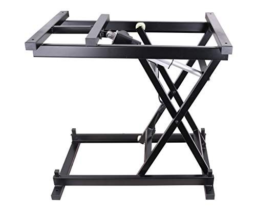 30'' Electric Hydraulic Wireless Remote Control Dining Table Coffee Table Lift,Black,110V-240V,Working Platform Computer Desk Electronic Scissor Lift