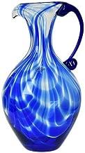 Blenko Glass USA - Hand Made Cobalt Blue Swirl Pitcher