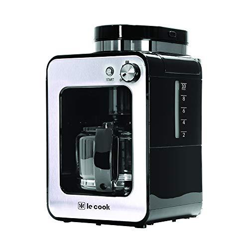 Máquina de Café Automática com Moedor, Le Cook, LC1714, Preto e Inox