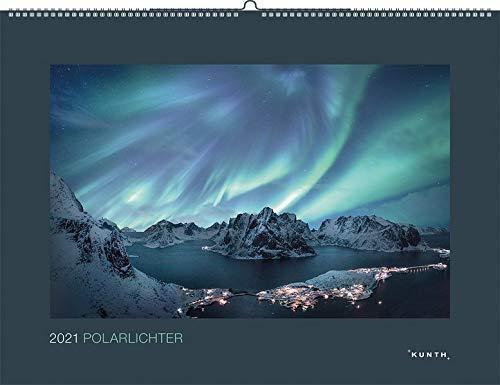 Polarlichter 2021: Wandkalender (KUNTH Wandkalender Black Edition)