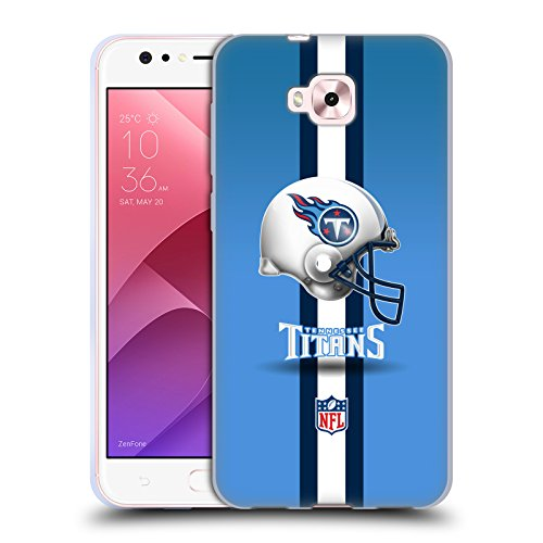 Head Case Designs Oficial NFL Casco Logotipo de Titanes de Tennessee Carcasa de Gel de Silicona Compatible con Zenfone 4 Selfie ZD553KL