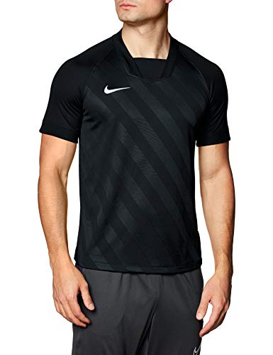 NIKE M NK Dry Chalng III JSY SS Camiseta de Manga Corta, Hombre, Black/Black/White, XL
