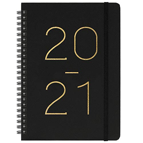 2020-2021 Planner - Weekly & Monthly Planner with Tabs, July 2020 - June 2021, Flexible Cover with Twin-Wire Binding, Banded, 6.45 x 8.45
