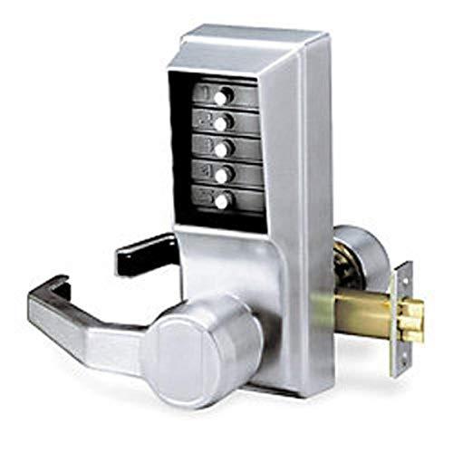Kaba LL1011-26D-41 Cylindrical Push Button Lever Nko Lh Us26D, Satin Chrome