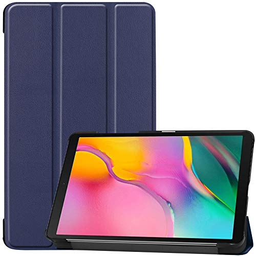 ProCase Galaxy Tab A 8.0 2019 Case T290 T295, Slim Light Cover Trifold Stand Hard Shell Folio Case for 8.0 inch Galaxy Tab A 2019 Without S Pen Model SM-T290 (Wi-Fi) SM-T295 (LTE) –Navy