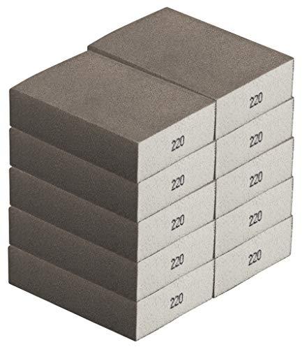 Schleifschwamm FEIN 10-er-Set I Körnung 220, DIY, Handschleifer I für verschiedene Materialien geeignet I hochwertiger Handschleifklotz, Schleifklotz, Schleifblock