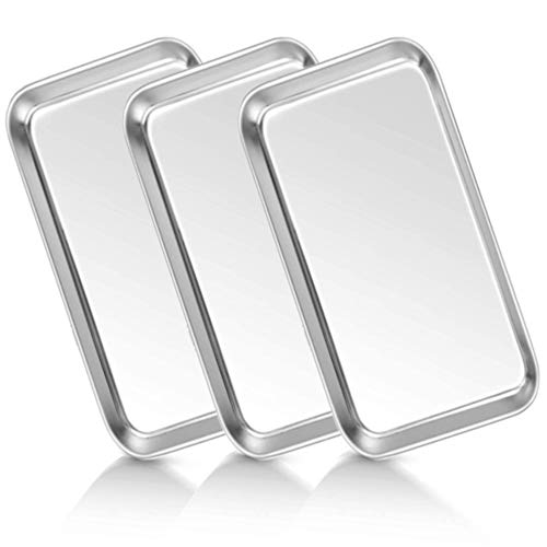 Medical Tray Stainless Steel (3 Pack), Dental Lab Instruments Surgical Trays Bathroom Organizer