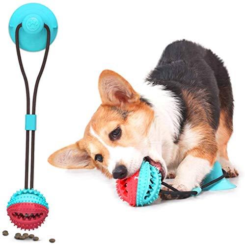 Hunde-Kauspielzeug für aggressive Kauer, USMEI Hundespielzeug mit Saugnapf für große, starke Hunde, Welpen-Hundetraining, Leckerlis,