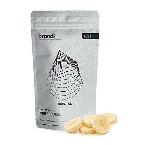 brandl® Vegan Protein 4k | Pflanzliches Proteinpulver ohne künstliche Süßstoffe | Eiweißpulver laktosefrei | Veganes Proteinpulver | 600g Banane
