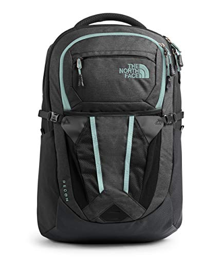 The North Face Women's Recon Backpack, Asphalt Grey Light Heather/Windmill Blue, One Size