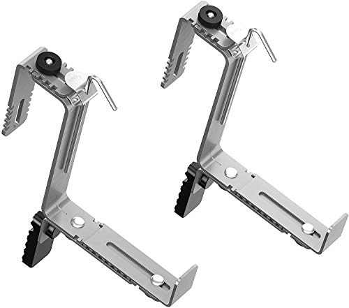 Emsa 516706 Vario Comfort Blumenkastenhalter, für Geländerbreiten von 4 - 12 cm, besonders geeignet für große Kästen, Aluminium