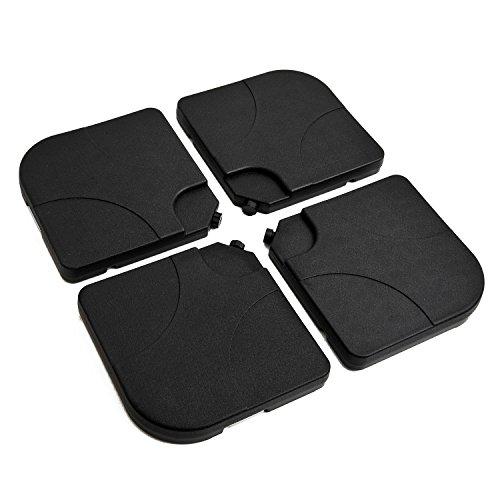 Outsunny Set 4pz Base per Ombrellone da Giardino in Plastica 50 × 50 × 7.5cm